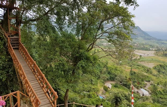 Curug Ciherang Air Terjun Jembatan Gantung Dan Rumah Pohon
