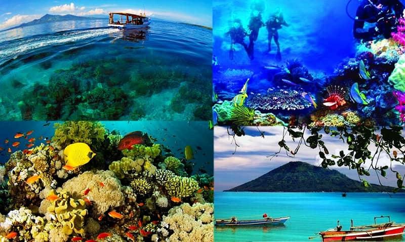 gambar taman laut nasional bunaken - Tempat Wisata Terindah di Indonesia, Wajib Kamu Kunjungi!