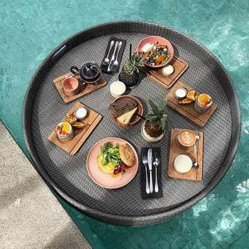 floating breakfast hotel