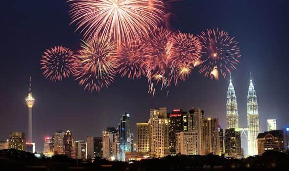 destinasi tahun baru di Asia