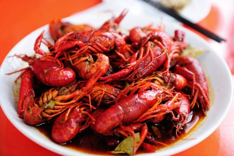 crayfish food