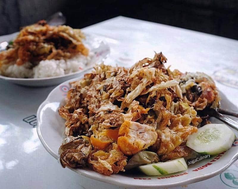 ayam geprek paling enak di Jogya