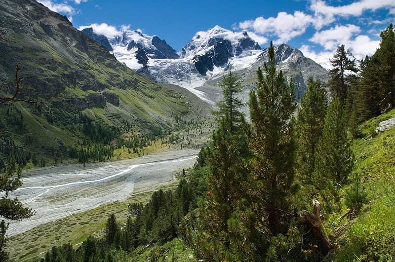 Lembah indah di Swiss