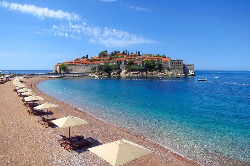 Pantai Sveti Stefan