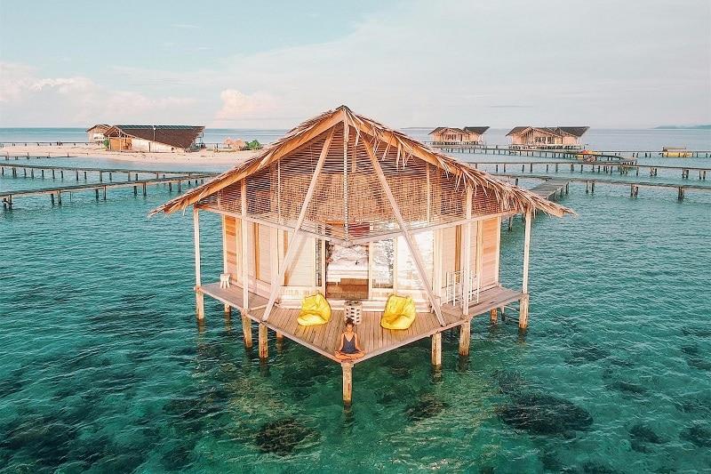 Rumah apung  Pulo Cinta Eco Resort