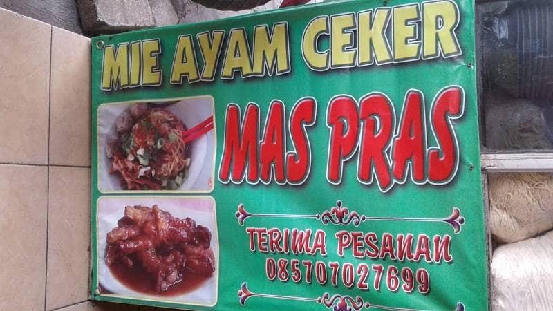 Mie Ayam Ceker Mas Pras